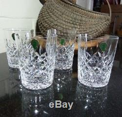 4 Waterford Lismore 4 3/8 Double Old Fashioned Tumbler Made in Ireland withTags