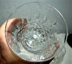 4 Waterford Lismore Clear Crystal Double Old Fashioned Bar Tumblers / Glasses