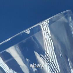 4 Waterford Lismore Crystal Double Old Fashioned Tumbler Glasses 4 3/8 Vintage