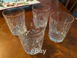 4 Waterford Lismore Ireland Double Old Fashioned Glass Tumblers Four Glasses