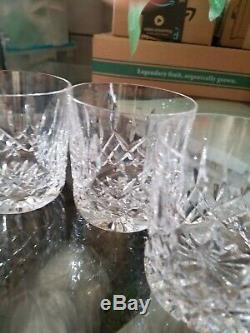 4 Waterford Lismore Whiskey Double Old Fashioned Tumblers Glasses
