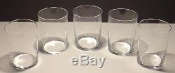 5 Vintage Baccarat Crystal Perfection Double Old Fashioned Glasses 4 1/8