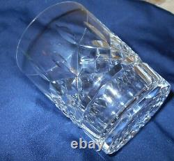 5 Vintage Waterford Crystal Lismore Double Old Fashioned Bar Glasses 4 3/8