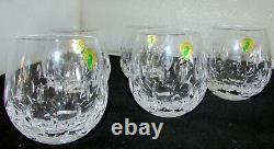 5 Waterford Crystal Esprit Double Old Fashioned Rolly Polly Glasses New