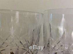 5 Waterford Lismore Double Old Fashioned Glasses 4 3/8 12 oz Ireland Excellent