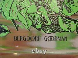 6 Bergdorf Goodman Partridge In A Pear Tree Double Old Fashioned Glasses Red &