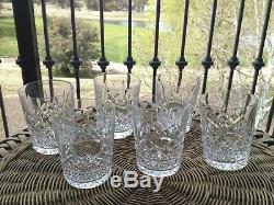 6 Lot Waterford Crystal Lismore Double Old Fashioned Tumblers Set Excellent