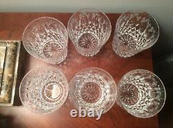 6 Miller Rogaska Queen Double Old Fashioned Glasses