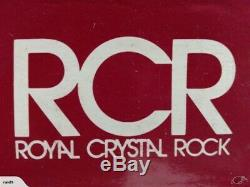 6 (Six) ROYAL CRYSTAL ROCK-RCR TIMELESS Cut Crystal Double Old Fashioned Glasses