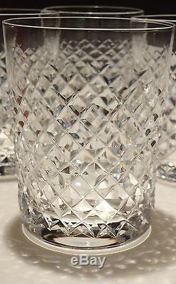 6 VINTAGE WATERFORD CRYSTAL ALANA DOUBLE OLD FASHIONED 12 oz. GLASSES 4 3/8
