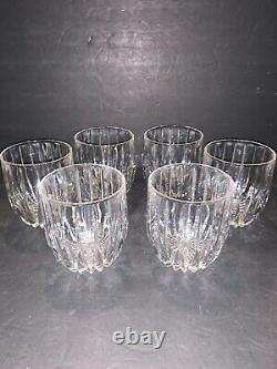 6 Vintage Mikasa PARK LANE Executive Double Old Fashioned Glasses 4 Mint! HTF