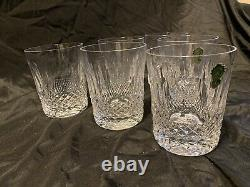 6 Vintage Waterford Crystal Colleen Double Old Fashioned Glass 4 3/8 Tumblers