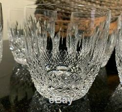 6 Waterford Crystal 3 1/2 Colleen Double Old Fashioned Tumblers Gothic Mark