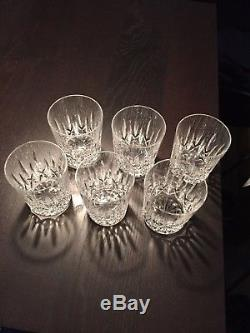 6 Waterford Crystal Double Old-Fashioned Glasses