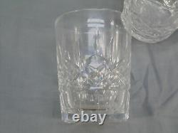 6 Waterford Crystal Lismore Double Old Fashioned Rock Glasses Set 4 3/8 Tall