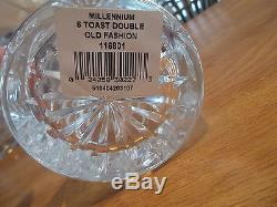6 Waterford Crystal Millennium 5 Toasts Double Old Fashioned Glasses