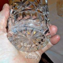 6 Waterford Lismore Double Old Fashioned Tumblers, 4 3/8 Tall, Signed