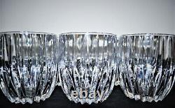 7 Mikasa Crystal Park Lane Double Old Fashioned Tumbler Glasses 3-5/8