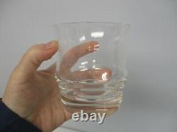 7 Signed Baccarat Double Old Fashioned Glasses