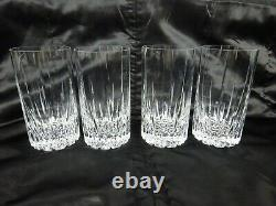 8 Mikasa Arctic Lights Glasses 4 Double Old Fashioned 4 Highball 5 1/4