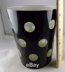 8 Modern Black & White Polka Dot Retro Double Old Fashioned Tumblers Glasses