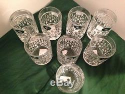8 PC RALPH LAUREN Aston Double Old Fashioned 24% Lead Crystal Glasses NWT