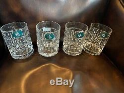8 Ralph Lauren Crystal Aston Double Old fashioned & Hiball Glasses NWT