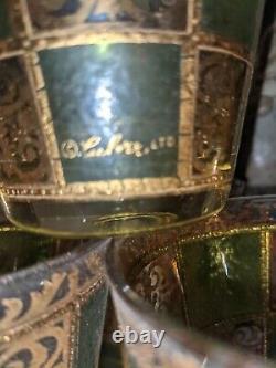 8 Vintage Culver Prado Double Old Fashioned Signed Glasses