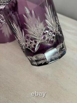 Ajka Caroline Amethyst Cut to Clear Set Of 2 Double Old Fashioned Glasses 4