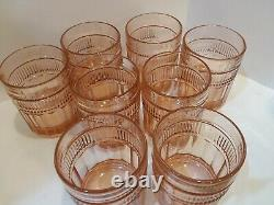 Anchor Hockng VTG 8 pc. Double Old Fashioned Annapolis Rosewater 12oz Bar Ware