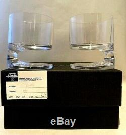 Arnolfo di Cambio 2 SMOKE Double Old Fashioned by Joe Colombo New in Box Signed