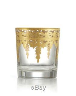 Arte Italica Vetro Gold Double Old Fashioned DOF Glass Set of 4