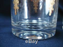 Arte Italica Vetro Gold Italian Glass Pair Of Dof Double Old Fashioned Glasses