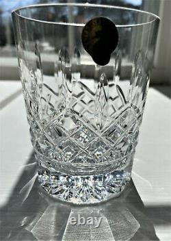 BOX TAG PAIR Lismore Double Old Fashioned Glasses ORIGINAL WATERFORD TISSUEPAPER