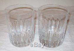 Baccarat 2 Double Old Fashioned Glass Rotary France Crystal Cut 1981 Barware