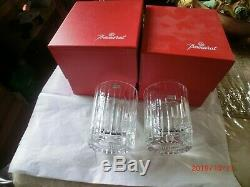 Baccarat Crystal Harmonie Double Old Fashioned Tumbler Glasses, Set of Two
