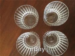 Baccarat Crystal Large Double Old Fashioned Harmonie Glasses Set of 4