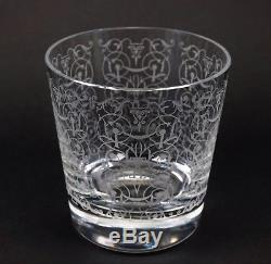 Baccarat Extra Large Michelangelo Double Old Fashioned Crystal Signed Tumbler