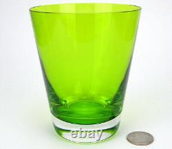 Baccarat French Crystal Tumbler Double Old Fashioned Glass Mosaique Moss Green