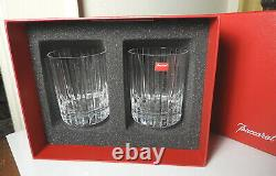 Baccarat HARMONIE 4 1/8 Double Old Fashioned Glasses, Pair, MINT in BOX