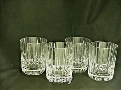 Baccarat HARMONIE Double Old Fashioned Glass SPECTACULAR Set of 4