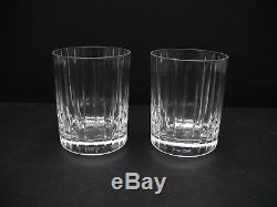 Baccarat HARMONIE Double Old Fashioned Glasses / Set of 2 / Excellent