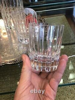 Baccarat Harmonie Crystal Decanter & 5 Matching Double Old-Fashioned Tumblers