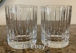 Baccarat Harmonie Set Of 2 Double Old Fashioned Glasses 4 1/8 Whiskey Bourbon