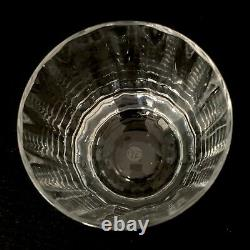 Baccarat Montaigne Optic 25 Crystal Double Old Fashioned Flat Tumbler Glass