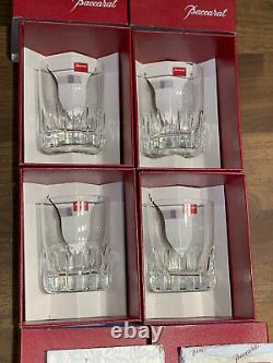 Baccarat Rotary #2 Double Old Fashioned Glasses Set of Four New in Box