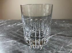 Baccarat Rotary Double Old Fashioned Crystal French Glass Preowned Excellent