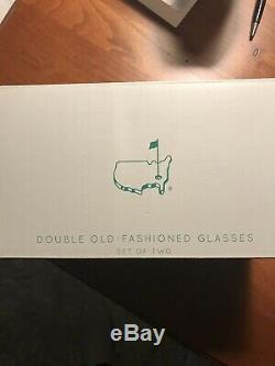 Berckmans Place 2019 Augusta National Masters Double Old Fashioned Glasses-new