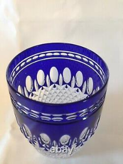 Blue WATERFORD CRYSTAL Double Old Fashioned CLARENDON TUMBLER