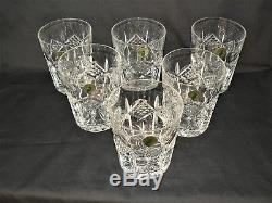 Boxed Set Of 6 Waterford Grainne Double Old Fashioned, Pristine Condition